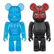 BE@RBRICK DARTH VADER(TM)(HOLOGRAPHIC Ver.)& DARTH MAUL(TM) 2 PACK