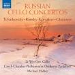 『ロシアのチェロ協奏曲集〜チャイコフスキー、グラズノフ、リムスキー=コルサコフ』 リー・ウェイ・クィン、ハラース&チェコ室内管弦楽団