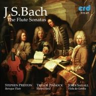Flute Sonatas: Preston(Fl)Pinnock(Cemb)Savall(Vc)