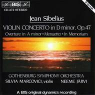 ヴァイオリン協奏曲、序曲、メヌエット、追憶のために マルコヴィチ、ヤルヴィ&エーテボリ響