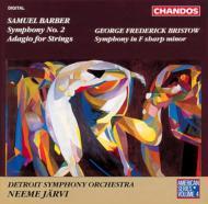 バーバー:交響曲第2番、弦楽のためのアダージョ他 ヤルヴィ/デトロイトSO