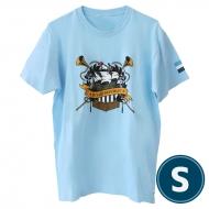 欅共和国2019Tシャツ エンブレム ライトブルー(S)