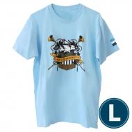 欅共和国2019Tシャツ エンブレム ライトブルー(L)