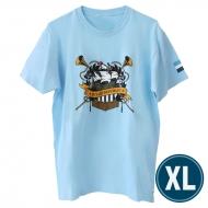欅共和国2019Tシャツ エンブレム ライトブルー(XL)