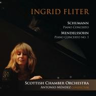 シューマン:ピアノ協奏曲、メンデルスゾーン:ピアノ協奏曲第1番、他 イングリット・フリッター、アントニオ・メンデス&スコットランド室内管弦楽団