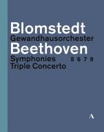 交響曲第5番、第6番、第7番、第9番、三重協奏曲 ヘルベルト・ブロムシュテット&ゲヴァントハウス管弦楽団、ファウスト、ケラス、ヘルムヒェン(3BD)