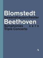 交響曲第5番、第6番、第7番、第9番、三重協奏曲 ヘルベルト・ブロムシュテット&ゲヴァントハウス管弦楽団、ファウスト、ケラス、ヘルムヒェン(3DVD)