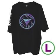 リーフロゴ Tシャツ ブラック(L)