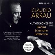 ブラームス:ピアノ協奏曲第1番、第2番、ベートーヴェン:ピアノ協奏曲第3番、第4番、他 クラウディオ・アラウ、インバル、ブール、ベルティーニ(1969-1980)(3CD)