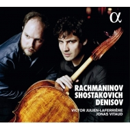 Cello Sonata: Julien-laferriere(Vc)Vitaud(P)+shostakovich: Sonata, Denisov