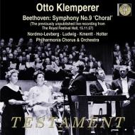 交響曲第9番『合唱』 オットー・クレンペラー&フィルハーモニア管弦楽団(1957年ステレオ・ライヴ)(日本語解説付)