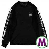 ロングスリーブTシャツブラック(M)