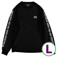 ロングスリーブTシャツブラック(L)
