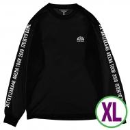 ロングスリーブTシャツブラック(XL)