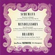 Konzertstuck, 1, 2, : Wlach(Cl)Bartosek(Basset Hr)Demus(P)+Brahms Clarinet Trio, Schumann (UHQCD)