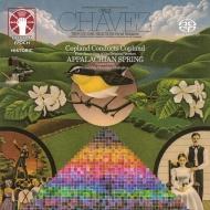 チャベス:『ピラミッド』より、4つの太陽(カルロス・チャベス&ロンドン交響楽団)、コープランド:アパラチアの春(アーロン・コープランド&コロンビア室内管弦楽団)