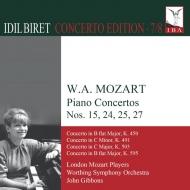 ピアノ協奏曲第27番、第25番、第24番、第15番 イディル・ビレット、ジョン・ギボンズ&ワーシング交響楽団、ロンドン・モーツァルト・プレイヤーズ(2CD)