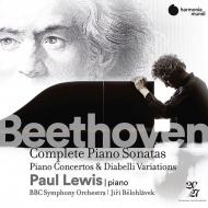ピアノ・ソナタ全集、ピアノ協奏曲全集、ディアベリ変奏曲 ポール・ルイス、イエジ・ビエロフラーヴェク&BBC交響楽団(14CD)