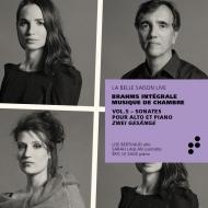 ヴィオラ・ソナタ第1番、第2番、2つの歌 リーズ・ベルトー、エリック・ル・サージュ、サラ・ローラン