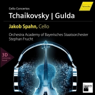 Gulda Cello Concerto, Tchaikovsky Rococo Variations : Jakob Spahn(Vc)Stephan Frucht / Orchestra Academy of the Bayerisches Staatsorchester (+Blu-ray Audio)