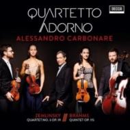 ブラームス:クラリネット五重奏曲、ツェムリンスキー:弦楽四重奏曲第3番 アレッサンドロ・カルボナーレ、アドルノ四重奏団