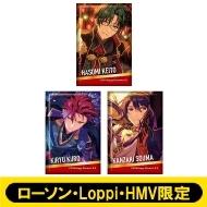 スクエアバッジ3個セット (紅月)【ローソン・Loppi・HMV限定】