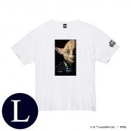 蓄光ロゴTシャツ(ホワイト / ヨーダ)Lサイズ