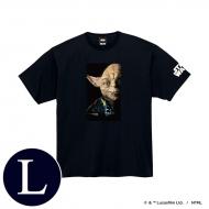 蓄光ロゴTシャツ(ブラック / ヨーダ)Lサイズ