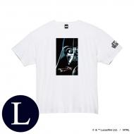 蓄光ロゴTシャツ(ホワイト / ダース・ベイダー)Lサイズ