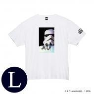 蓄光ロゴTシャツ(ホワイト / ストームトルーパー)Lサイズ