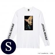 蓄光ロゴロングスリーブTシャツ(ホワイト / ヨーダ)Sサイズ