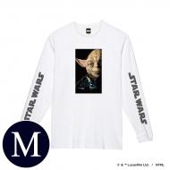 蓄光ロゴロングスリーブTシャツ(ホワイト / ヨーダ)Mサイズ