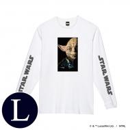 蓄光ロゴロングスリーブTシャツ(ホワイト / ヨーダ)Lサイズ