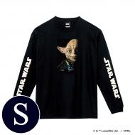蓄光ロゴロングスリーブTシャツ(ブラック / ヨーダ)Sサイズ