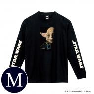 蓄光ロゴロングスリーブTシャツ(ブラック / ヨーダ)Mサイズ