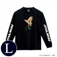 蓄光ロゴロングスリーブTシャツ(ブラック / ヨーダ)Lサイズ