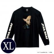 蓄光ロゴロングスリーブTシャツ(ブラック / ヨーダ)XLサイズ
