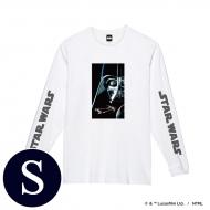 蓄光ロゴロングスリーブTシャツ(ホワイト / ダース・ベイダー)Sサイズ