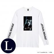 蓄光ロゴロングスリーブTシャツ(ホワイト / ダース・ベイダー)Lサイズ