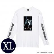 蓄光ロゴロングスリーブTシャツ(ホワイト / ダース・ベイダー)XLサイズ