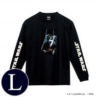 蓄光ロゴロングスリーブTシャツ(ブラック / ダース・ベイダー)Lサイズ