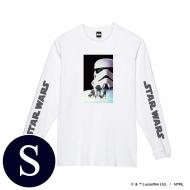 蓄光ロゴロングスリーブTシャツ(ホワイト / ストームトルーパー)Sサイズ