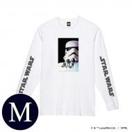 蓄光ロゴロングスリーブTシャツ(ホワイト / ストームトルーパー)Mサイズ