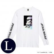 蓄光ロゴロングスリーブTシャツ(ホワイト / ストームトルーパー)Lサイズ