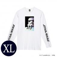 蓄光ロゴロングスリーブTシャツ(ホワイト / ストームトルーパー)XLサイズ