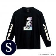 蓄光ロゴロングスリーブTシャツ(ブラック / ストームトルーパー)Sサイズ