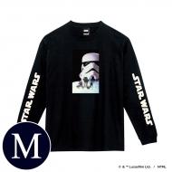 蓄光ロゴロングスリーブTシャツ(ブラック / ストームトルーパー)Mサイズ