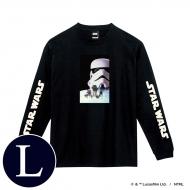 蓄光ロゴロングスリーブTシャツ(ブラック / ストームトルーパー)Lサイズ