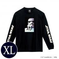 蓄光ロゴロングスリーブTシャツ(ブラック / ストームトルーパー)XLサイズ