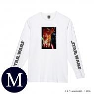 蓄光ロゴロングスリーブTシャツ(ホワイト / 集合)Mサイズ